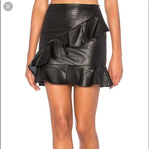 Faux leather skirt from revolve!